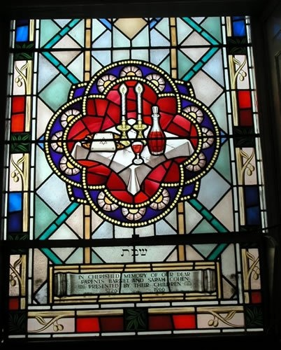 Plymouth Synagogue Windows